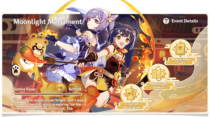 "Genshin ""Moonlight Merriment"" event page"